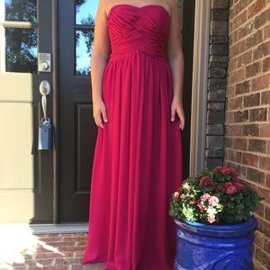 JS Boutique Strapless Sweetheart Gown